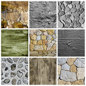 Walls and surfaces collage — Stock Photo