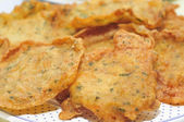 Spanish tortas de camaron, shrimp cakes — Stock Photo