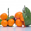 Bunches of tangerines — Stock Photo