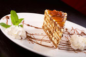 Cake caramel — Stock Photo