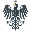 Black heraldic eagle 2 - Stock Vector