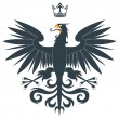 Black heraldic eagle - Stock Vector