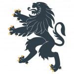 Standing Heraldic Lion — Stock Vector #10344066
