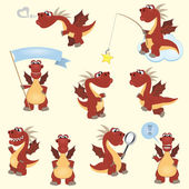 Dragon set2 — Stock Vector