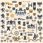 Heraldic Design Elements set — Stock Vector