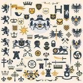 紋章デザイン要素セット — ストックベクタ
