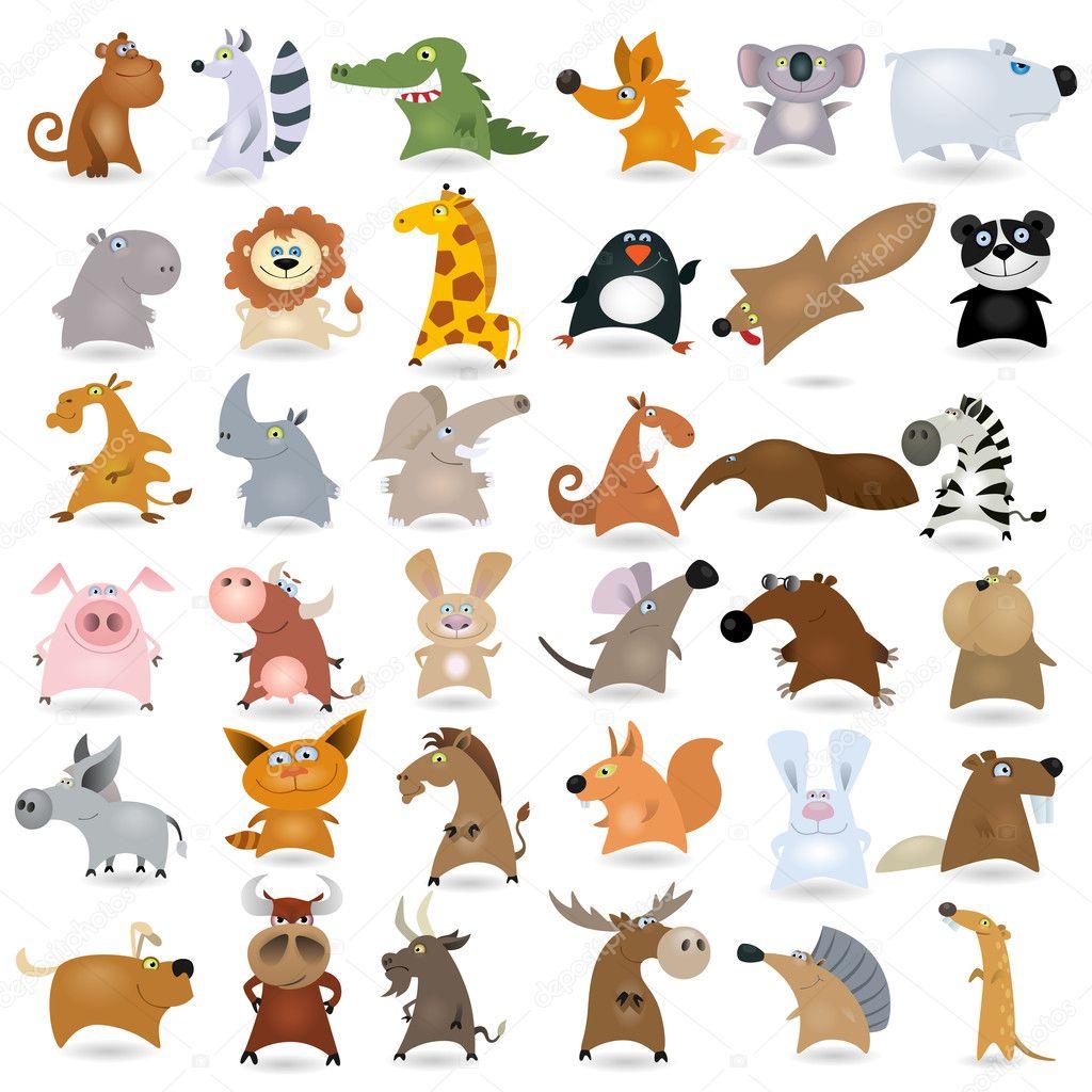 Big Animals Set2 Stock Vector Genestro 8407063