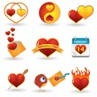 Valentine's day icon set — Imagen vectorial