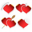 Heart stickers — Stock Vector
