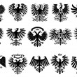 Stock Vector: Heraldic eagles