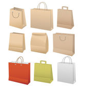 Paper bags set — Stock Vector