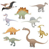 Dinosaur set — Stock Vector