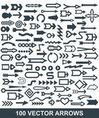 Flechas para diseño web — Vector de stock