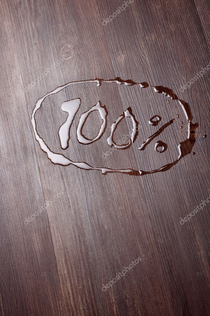 The inscription hundred percent  Stock Photo #10442447