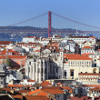 Lisbon square — Stock Photo