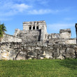 Panoramic view of Tulum ruins — Stock Photo #10023924