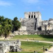 Tulum ruins under the sun — Stock Photo