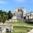 Stock Photo: Tulum ruins under the sun