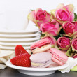 Foto Stock: Dessert on valentine's