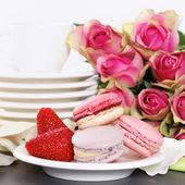 Dessert on valentine's — Zdjęcie stockowe