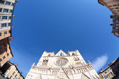 Fish eye cathedral — Stock Photo