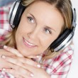 Stock Photo: Music in headphone
