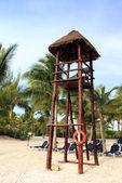 Ponto de vista sobre a praia — Fotografia Stock