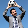 Foto Stock: Coach with ball