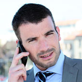 On the phone square — Stock Photo