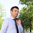 Stock Photo: Spring businessman