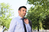 Spring businessman — Stock Photo