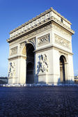 Vertical view of Arc de Triomphe — Stock Photo