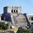 Tulum ruins square — Stock Photo