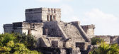 Panoramic view of Tulum ruins — Stock Photo