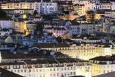 Lisbon district by night — Stock Photo