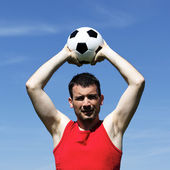 Mann mit ball — Stockfoto
