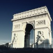 Arc de Triomphe with special photograpic processing — Stock Photo