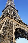 Part of famous Eiffel tower — Stock Photo