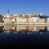 Lyon reflection — Stock Photo