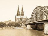 Köln panorama — Stockfoto