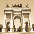 Stock Photo: Arco dellPace, Milan