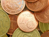 Euro munten achtergrond — Stockfoto