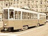 Antiguo tranvía en turín — Foto de Stock