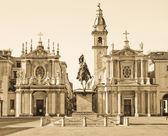 Santa Cristina and San Carlo church — Stock Photo