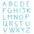 Handwritten alphabet letters — Stock Photo #10659149