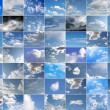 Blue sky collage — Foto de Stock
