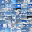 Blue sky collage — Stock Photo #8113703