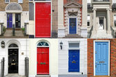 British doors — Stock Photo