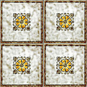Floral tiles — Stock Photo