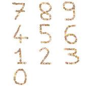 Números escritos con monedas — Foto de Stock